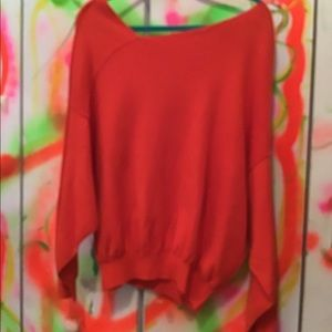 Free people orange sweater size M